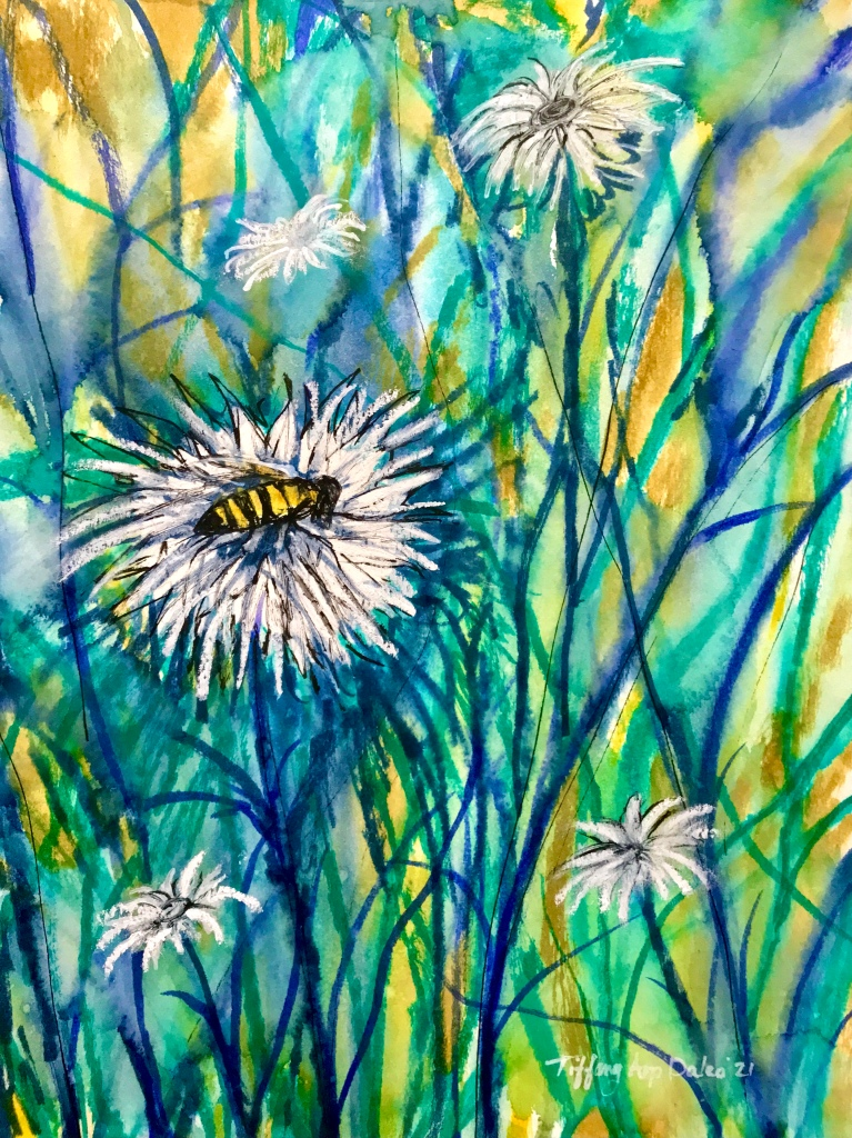 "9"" x 12"" Mixed media on watercolor paper by Tiffany Arp Daleo"